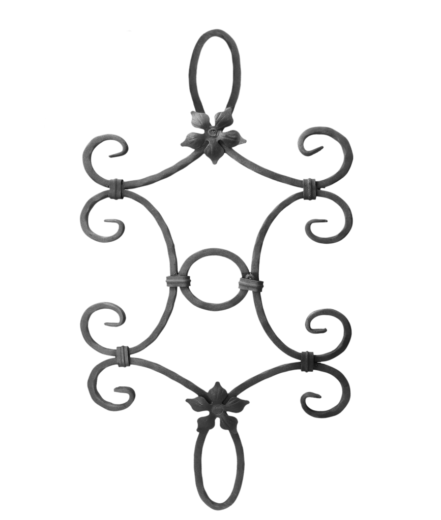 Kovářský ornament H 790 x L 380 mm, 12 mm